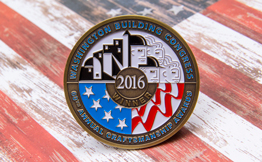 Paint Fill 2D Custom Challenge Coin