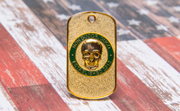 Odd Shape Dog Tag Style Challenge Coin
