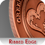 Ribbed Edge for Challenge Coins