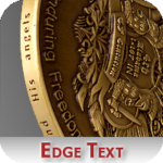 Stamped Edge Text on Coin Option