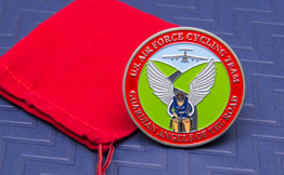 Military Challenge Coin with Paint Fill